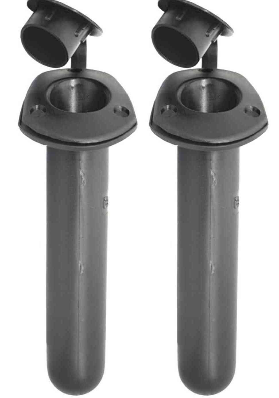 Rod holders x 2 with black caps kayak fishing rod for Fishing rod hangers