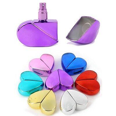 Heart Shape Perfume Bottle Refillable Empty 25ml Travel Mini Atomizer Spray Pump