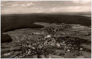 Lossburg im Schwarzwald Postkarte 1958 Totale mit Blick auf den Kniebis Luftbild