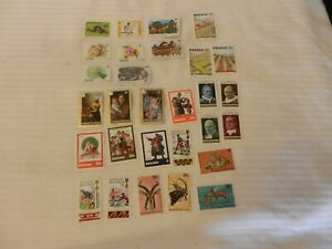 Lot-of-29-Rwanda-Stamps-Flowers-Art-Antelopes-Erosion-All-From-the-1970s