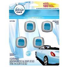 FEBREZE Car Vent Clips 2 ml Air Freshener Linen & Sky - 4 Count
