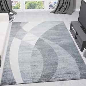 alfombra de diseño moderna gris negra y blanca a rayas onduladas | ebay