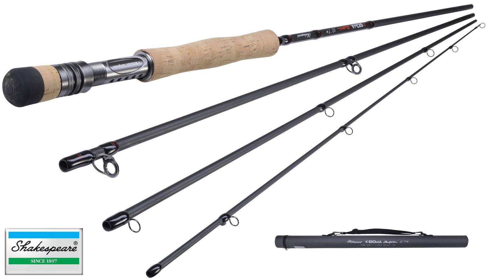 NUOVO Shakespeare Sigma SUPRA Fly Fishing Rod 7ft - 11ft 4pc tutti i modelli disponibili