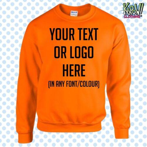 Personnalisé Personnalisé Bébé//Enfants Sweat-shirt Name Drôle Cadeau-Yr Texte//Logo 2