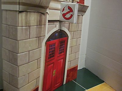GhostBusters Exclusive FIREHOUSE HEADQUARTERS  Cardboard Paper Display