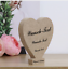 6 variants Wish Engraving Heart Stand Wood Mother-Birthday Gift Idea LOVE