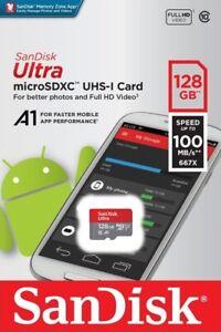 SanDisk-Ultra-128GB-microSDXC-UHS-I-Tarjeta-SD-de-velocidad-hasta-100MB-s-C10-U1-A1-Nuevo