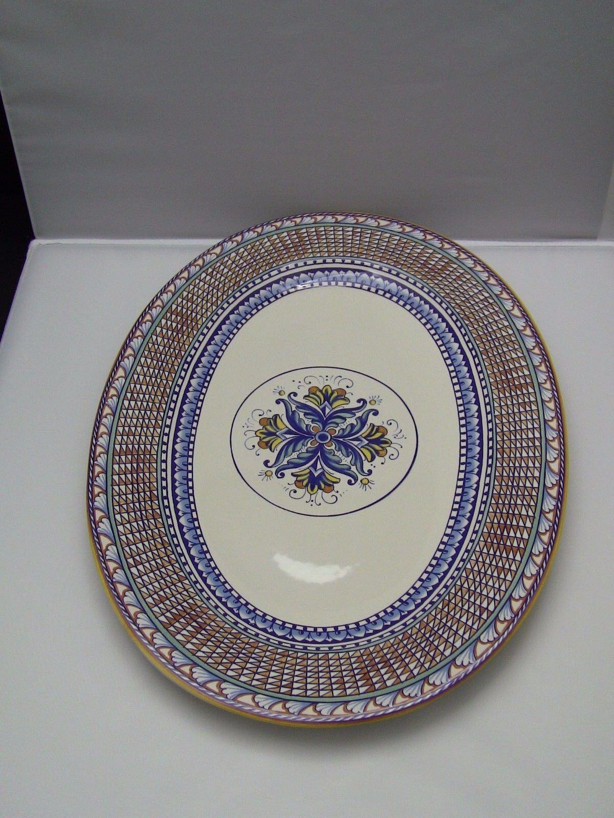 Williams Sonoma Mediterranean Large Oval Serving Platter 20