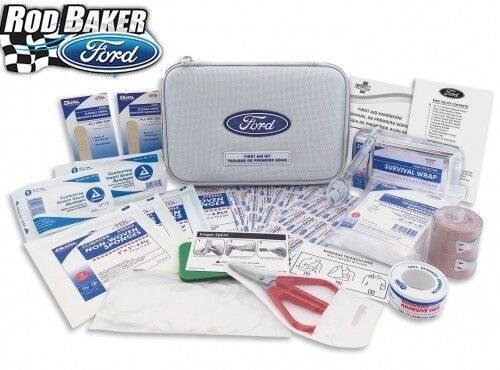 Ford Factory Emergency Roadside First Aid Kit Bandages Scissors Gauze Mustang