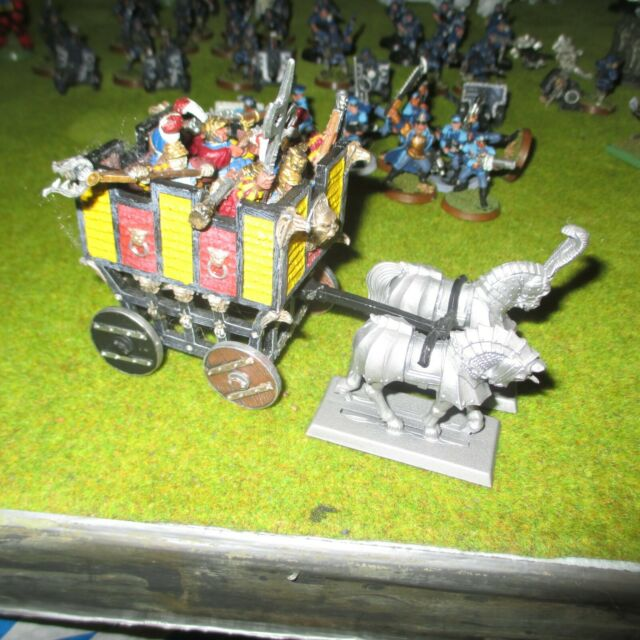 Warhammer empire war wagon and general on griffin all metal