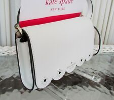 Kate Spade New York Addison Leather Crossbody Bag in Bright White//Warm Beige