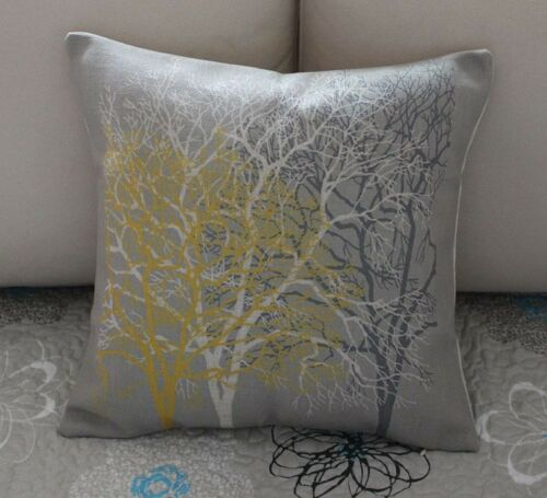 Vintage Luck Large Trees Cotton Linen Throw Pillow Cushion Cover Home Decor Z423