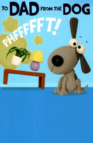 Funny To Dad From The Dog Father/'s Day Card Blame Farts On Dog Greeting Cards
