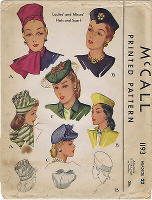 McCall # 1318 Beret HATS /& BAG Fabric Sewing Pattern Chemo Cancer Alopecia 23/""