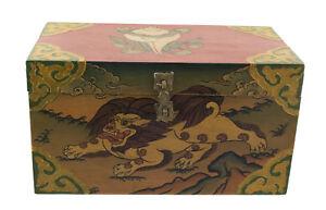 Cofanetto Scatola Tibetano Leone Dei Frozen Di Nepal 30x17cm 5710