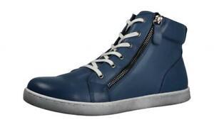 Andrea Conti Shoes Stiefelette 35 38 39 Leder Decksohle Schwarz Lack Boots NEU