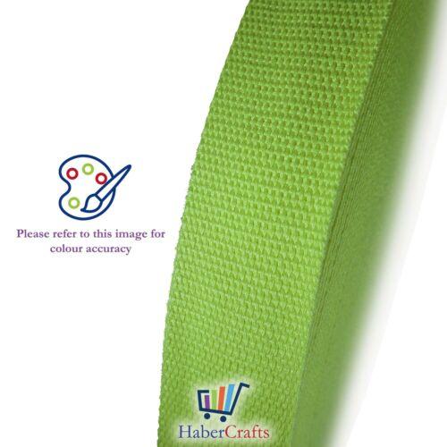 Light Green 25mm Cotton Webbing Tape Strapping 1 Inch Belt Strap Bag Making