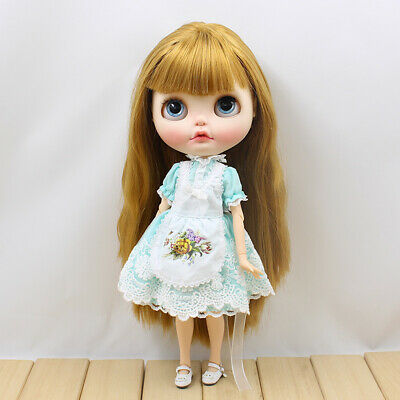 """12/"""" Neo Blythe Doll clothes cute dress Light Green color with bowknot 2 pcs"""