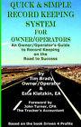 Quick & Simple Record Keeping for Owner/Operators by Timothy D Brady, Tim Brady, Esta Klatzkin (Paperback / softback, 2005)