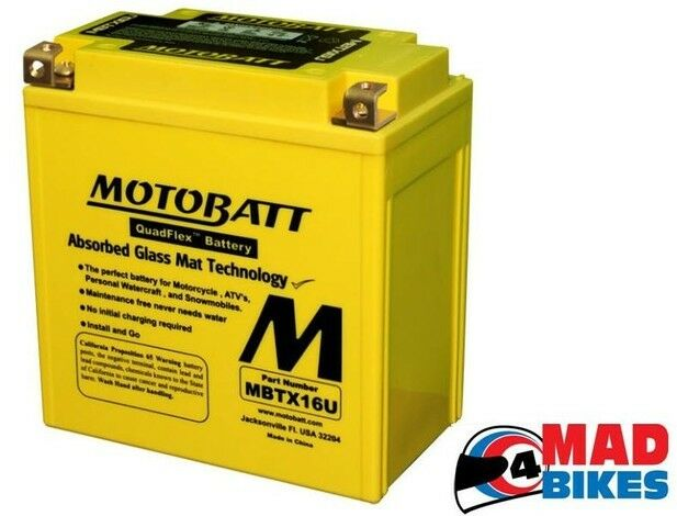 Suzuki VZR1800 Intruder 2006 To 2013 Motobatt Motorrad AGM Upgrade Batterie