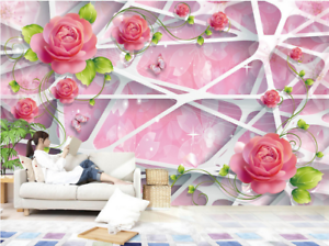 3D Flowers Net 815 Wallpaper Mural Paper Wall Print Wallpaper Murals UK Lemon