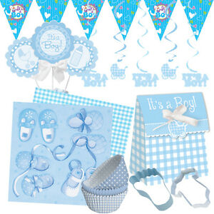 new baby boy baby shower party range tableware balloons banners