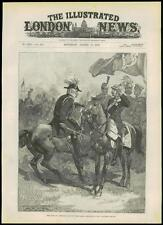 1889 Antique Print DUKE OF CAMBRIDGE German Emperor Aldershot military (266)