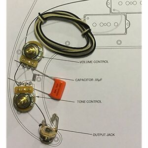 electric guitar parts taot wiring kit fender precision bass p bass orange drop ebay. Black Bedroom Furniture Sets. Home Design Ideas