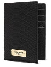 New With Tag Victoria's Secret Black Python Print Passport Cover ID Card Holder