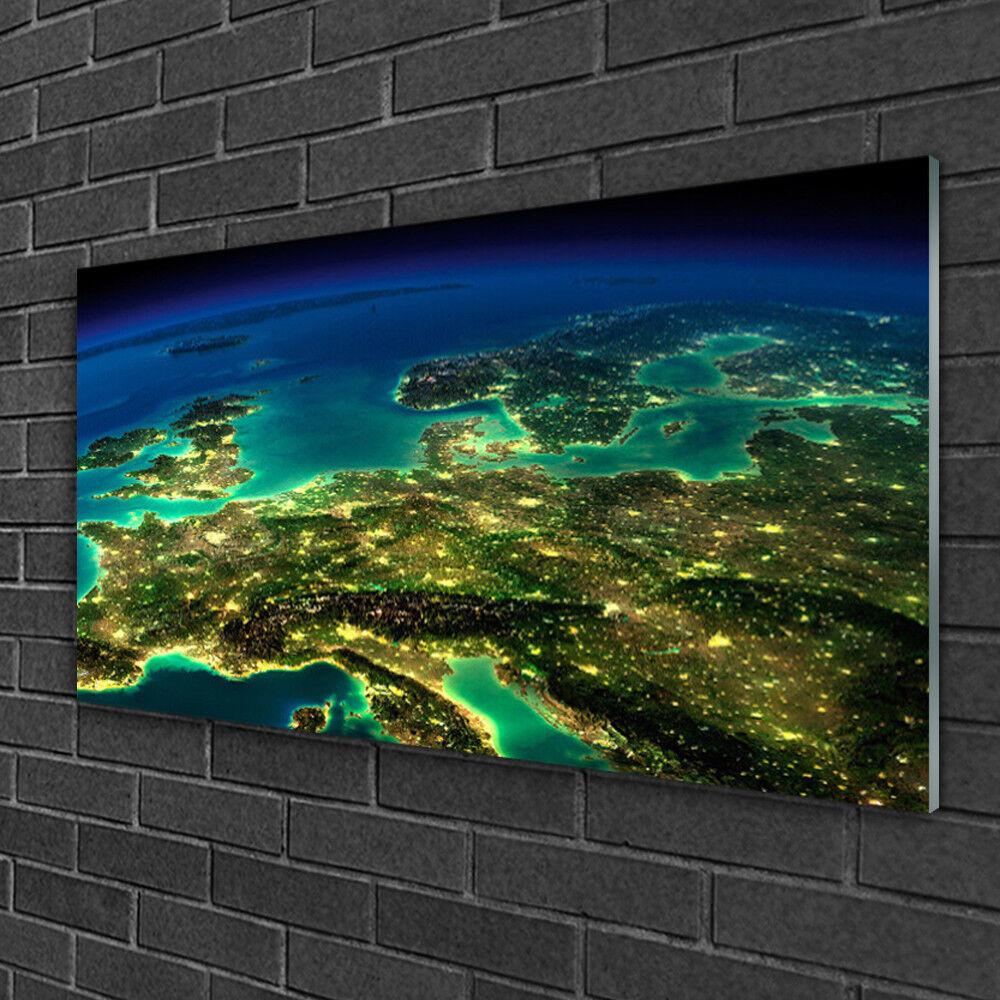 Image sur verre acrylique Tableau Impression 100x50 Art Abstrait