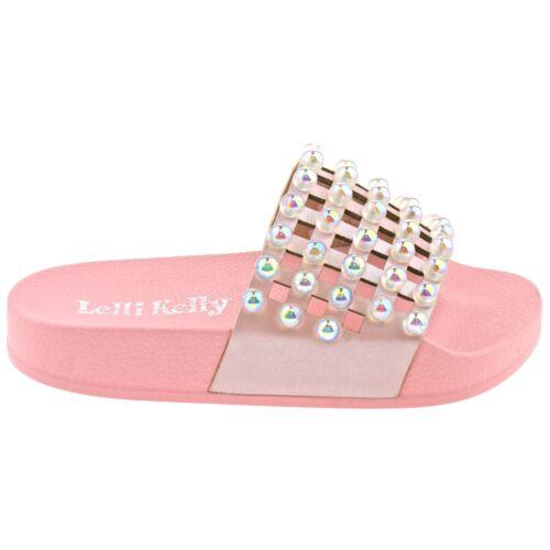 Lelli Kelly LK9915 Rosa Vittoria Pearlescent Slider Sandals AC01