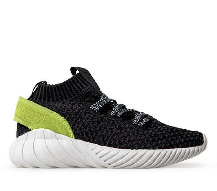 Adidas Wouomo Tubular Doom Sock PK Carbon nero Solar giallo [CQ2484] Dimensione 5US