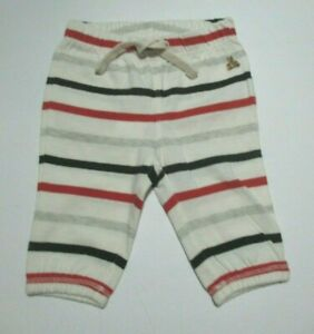 NEW-NWT-INFANT-BOYS-GIRLS-BABY-GAP-RED-GRAY-BLACK-STRIPED-PANTS-SIZE-0-3-MONTHS