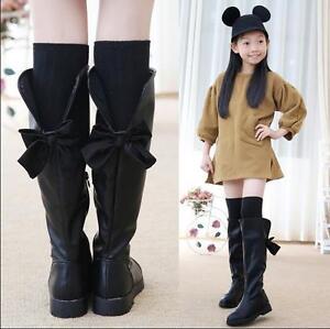 Winter Child Girls Snow Shoe Bowknot Warm Sweet Kids Knee
