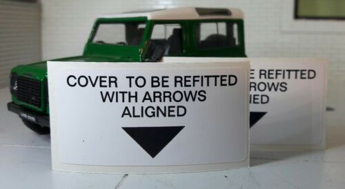 Land Range Rover Classic Defender Air Filter Casing Cleaner Decal Label Badge