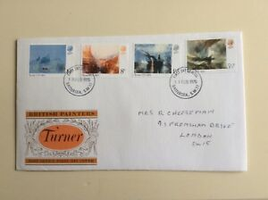 Post-Office-First-Day-Cover-British-Painters-Turner-1975