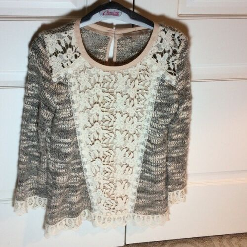 Anthropologie Champagne & Strawberry Sweater