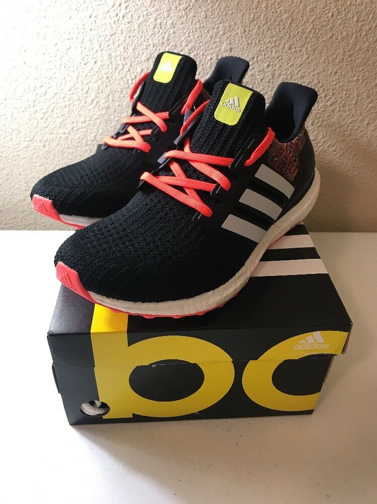 NEW MI Adidas Ultra Boost Black Rainbow 4.0 Custom Size 10.5 100% Authentic