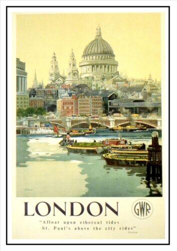 London Gwr Railway Vintage Retro Oldschool Old Good Price Poster