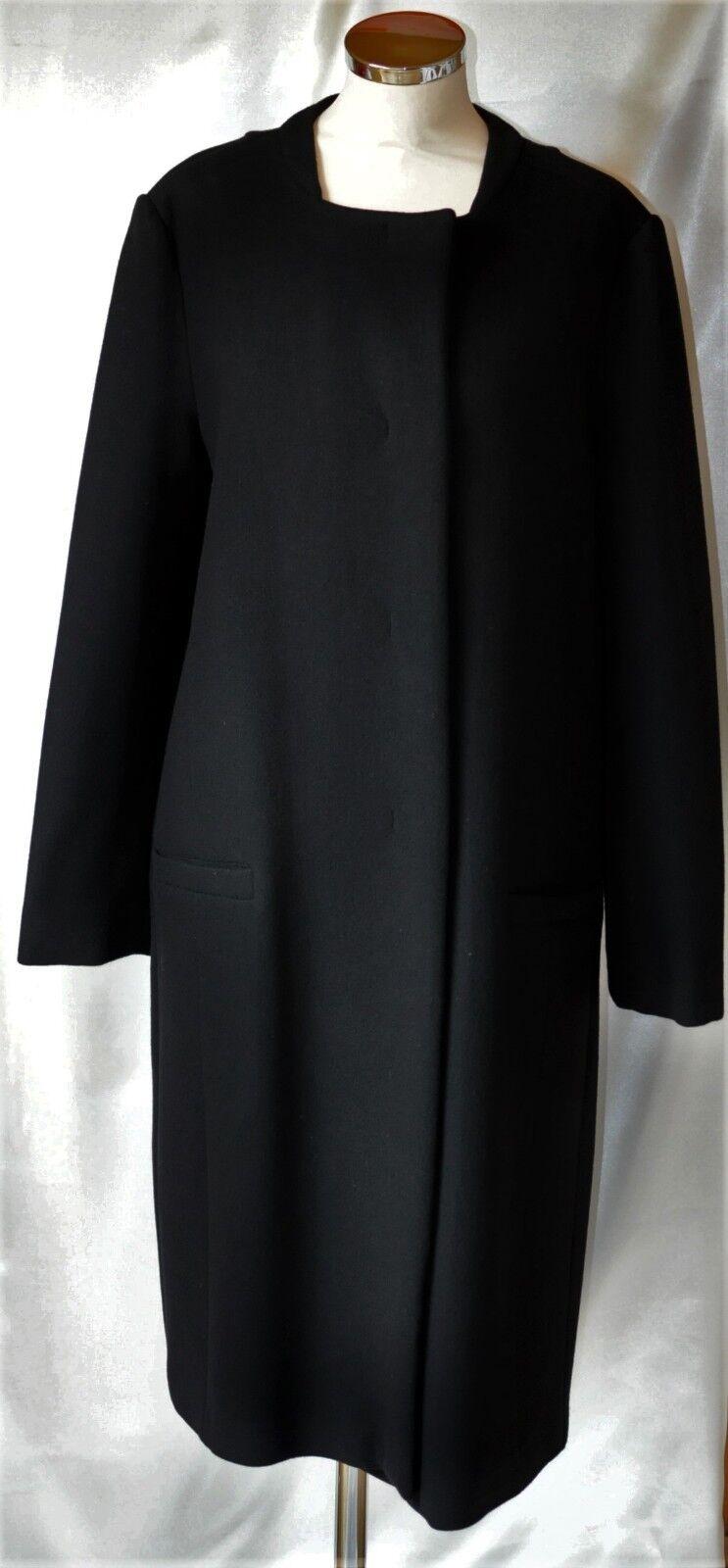 Minx  Gr 40  Winter Mantel  CINO108   Wolle  Schwarz   NEU
