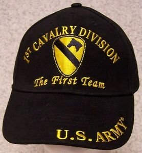 7cd66620148 Image is loading Embroidered-Baseball-Cap-Military-Army-1st-Cavalry-Division -