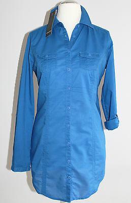 Street One leichte Damen Bluse RAHEL Tunika Langarm Gr. 38 / M Freizeit blau NEU