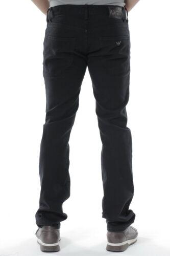 Cotone Armani Aj Jeans Uomo Trouser Pantaloni 12 Nero S6j02dn 7SIwdqIExn