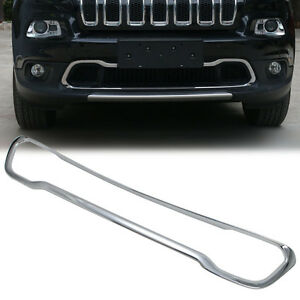 Details about ABS Chrome Front Bumper Lower Grille Cover Trim FitFor Jeep  Cherokee 2014 - 2018