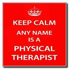 Physical Therapist Personalised Keep Calm Coaster