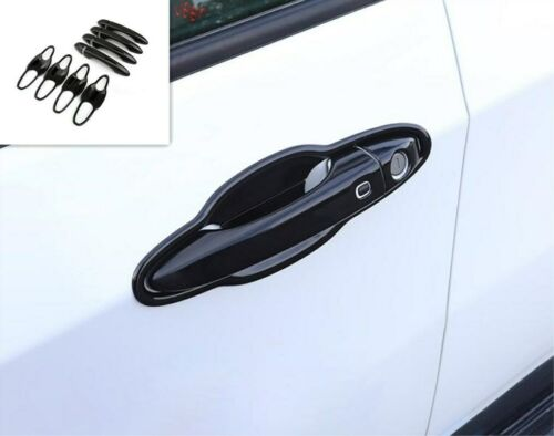 Non-Rusty Black Door Handle Bowl Cover Cup Overlay For Jeep Compass 2017-2019