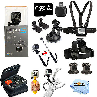 GoPro HERO5 Session All In 1 PRO Accessory Mount Bundle For All Occasions
