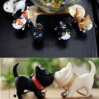 Novelty Lovers Cute Kitten Cat Keyring Keychains For Handbag Key Kid Toy Gift