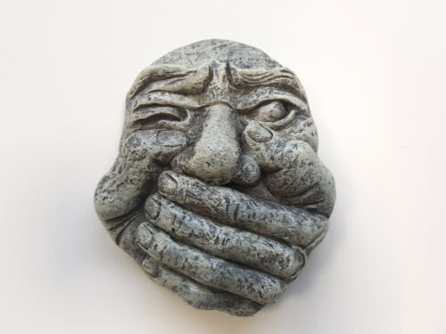 /'The Evils/' Gargoyle Wall Plaques Hear Speak See No Evil Outdoor Hanging Decor