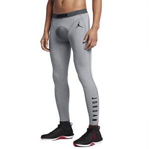 9f290a58407530 Nike Men s Jordan 23 Tech Dri-Fit Basketball Training Tights In Grey ...